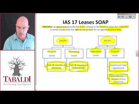 IAS 17(A) Standard on a page( SOAP)