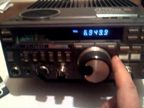 Wolverine Radio USB Pirate Radio on 6.950MHz Using an old Yaesu FT-757GX
