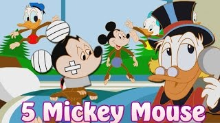 Five Little Monkeys Mickey Mouse Jumping on the bed - 5 Mickey Mouse