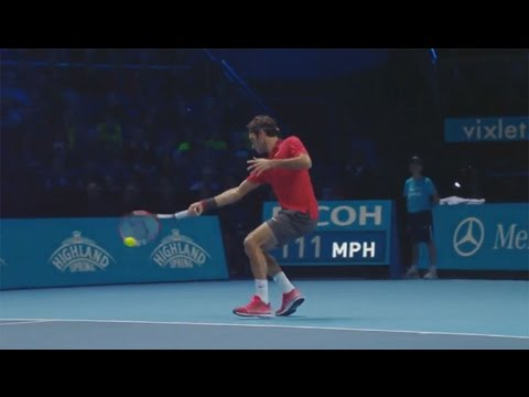Roger Federer's Passing Hot Shot Against Kei Nishikori In London