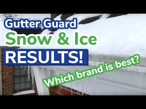 Gutter Guard Snow and Ice Test Results (Day 3)
