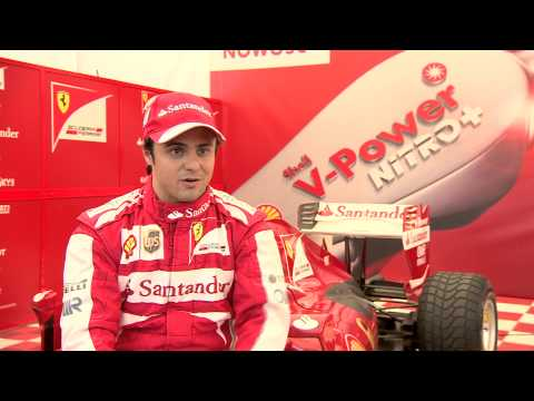 Felipe Massa at Ferrari's demonstration run in Warsaw