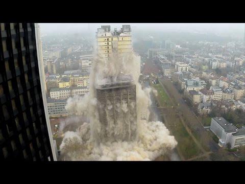 Vidéo – une impressionnante démolition d'immeuble filmée par une GoPro