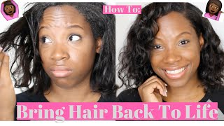 How I Bring My Hair Back To Life !