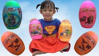 Siêu Nhân Săn Trứng Khủng Long – Bóc Trứng Khủng Long Đồ Chơi ❤ AnAn ToysReview TV ❤