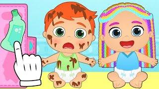 BEBES ALEX Y LILY Sesión de Belleza y cambios de Look | Dibujos animados educativos