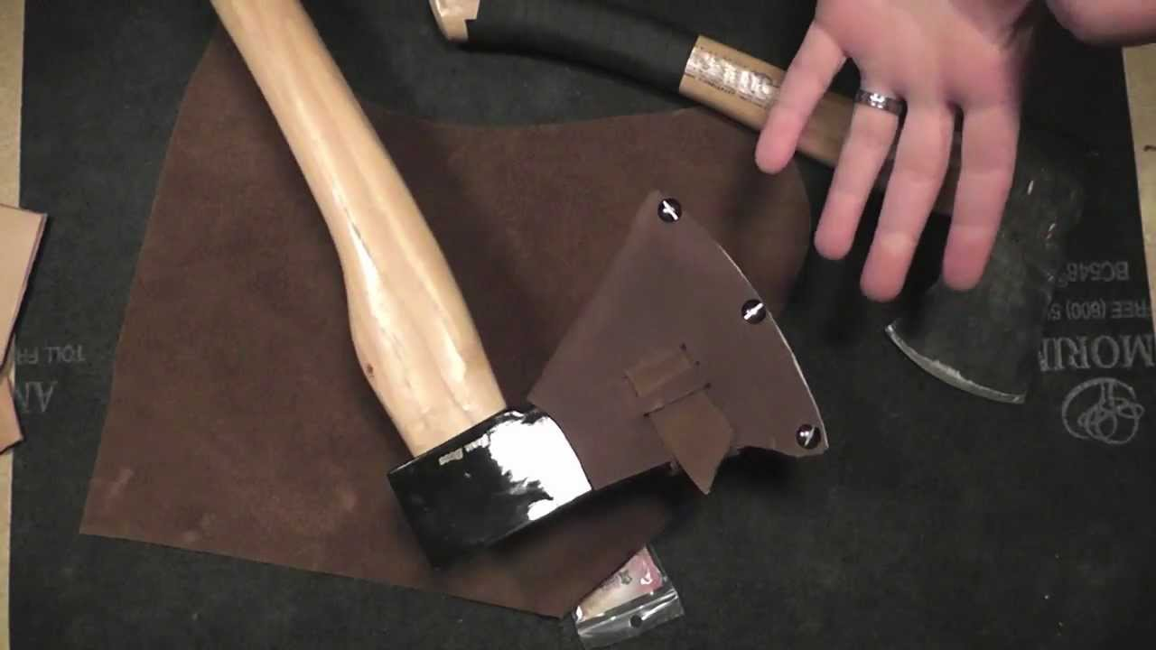 Diy Cold Steel Trail Boss Axe Sheath Pt 1 Overview Youtube