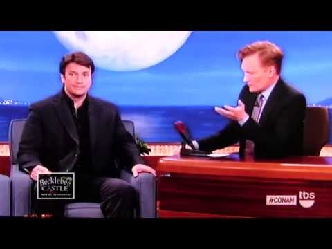 Nathan Fillion in Conan Show April 15 2014