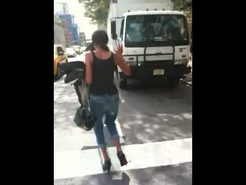 June Ambrose taxi cab catching debacle! Video