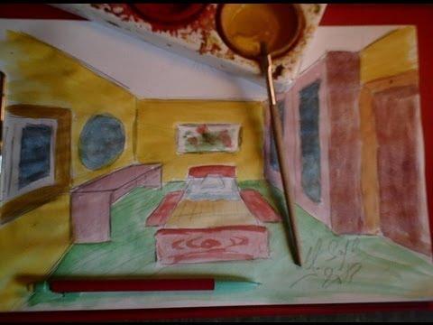 Dessiner en perspective 16 20 une chambre en 3d pas - Dessiner sa chambre en 3d ...