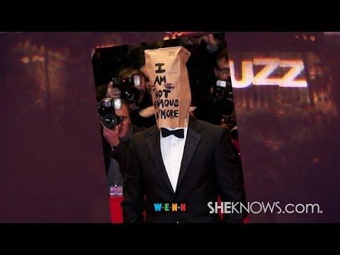 Shia LaBeouf wears a paper bag to movie premiere