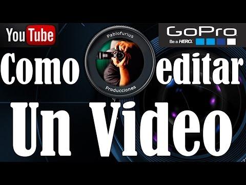 Como Hacer un vídeo en GoPro Studio 2.0 - Español   @Pablofurius