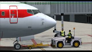 [FSX] Turnaround, Boarding and Takeoff at Geneva LSGG
