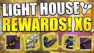 Destiny : LIGHTHOUSE REWARDS X6! With Brother Vance Rewards! (Exotic Rewards!)