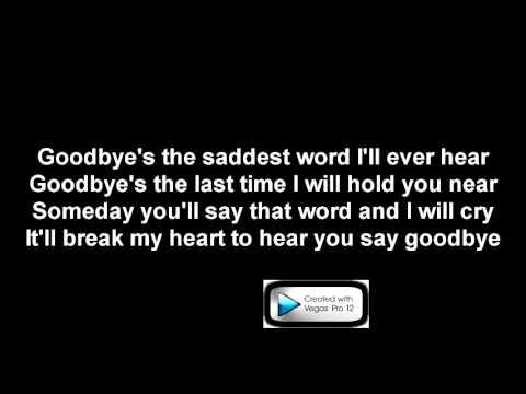 Celine Dion Goodbyes Karaoke video