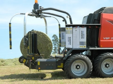 Watch Silage 2012. Round Baling & Wrapping Combo With 3d Wrapping