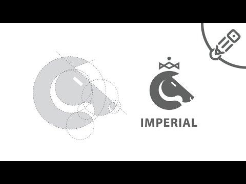 Геометрическое построение логотипа с помощью кругов. Logo creation of circles.
