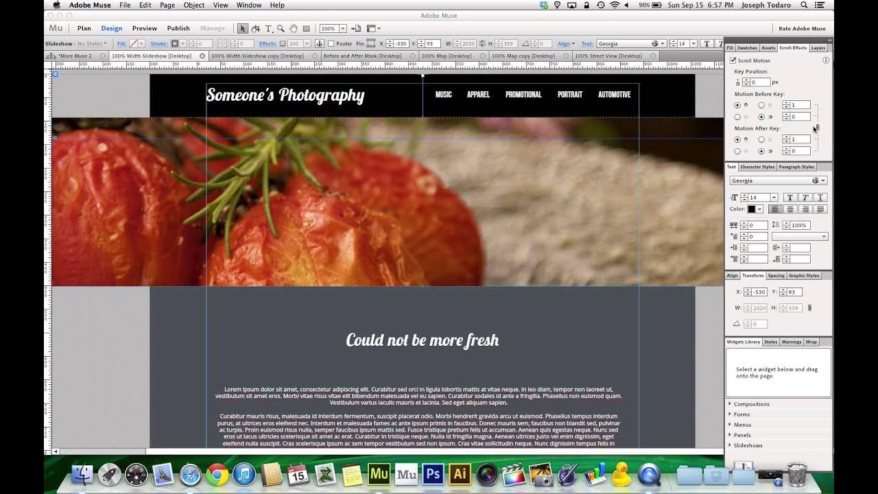 Adobe Muse Websites Adobe Muse cc Trick | 100