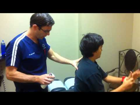 Chiropractic Adjustment to Release Pain in Neck