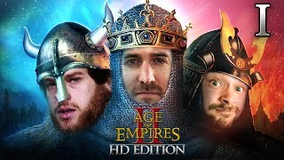 Age Of Empires 2 HD Edition 2v1 #01 | Florentin & Donnie vs. Marco