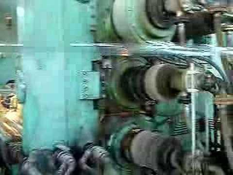 calendering process. PVC film calendering line