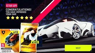 ASPHALT 9 l Opening 140 Lamborghini Egoista Packs & Test Drive