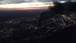 Ames Plant Fire South Parkersburg Aerial