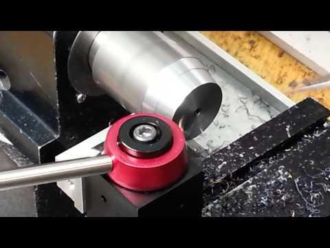 Turning 1060 steel on Sherline lathe.
