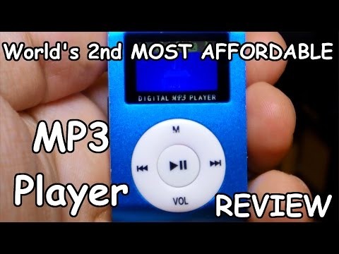 Cheapest MP3 Player with micro SD Card slot and LCD Review!