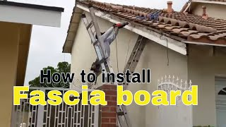 How to video: Replacing the most difficult fascia boards, rooten , termited, the professional way.