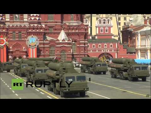 (RAW) - 2015 VE Day Moscow Parade Land and Air Vehicles