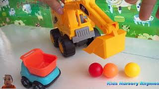 Car toy videos for kids | Excavator, truck, dump truck, crane,