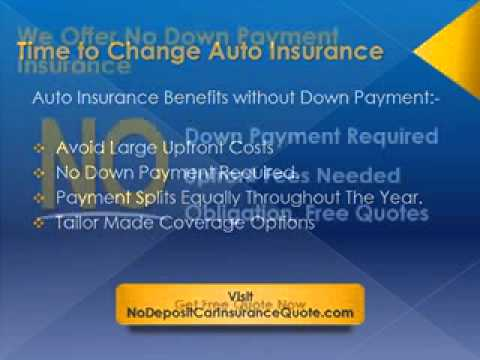 No Down Payment Auto Insurance Online