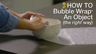 How to Pack with Bubble Wrap®