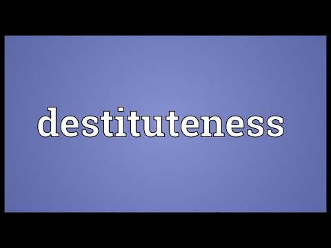 Header of destituteness