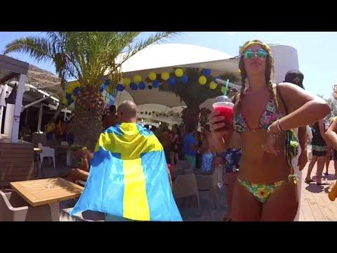 Crazy Greek Pool Party on Ios Island, Greece