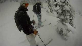 DUDE ITS POWDER!!! EPIC Alpental back country skiing