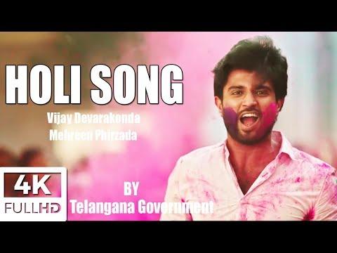 Arjun Reddy Fame Vijay Devarakonda Holi Song   vijay devarakonda   Mehreen Phirzada  SUNNY TFCCLIVE