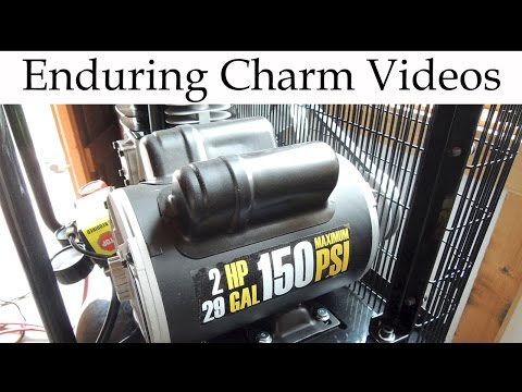 Harbor Freight Air Compressor Unboxing And Review
