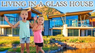 Glass House Tour! Our Staycation Home Doesn't Have a Roof!!!