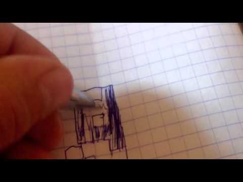 Как рисовать крипера киборга