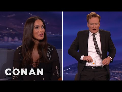 Megan Fox Tries To Open Conan's Sexual Chakra  - CONAN on TBS