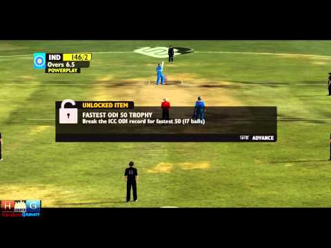 Ashes Cricket™ 2009 : India v/s New Zealand - 25 over ODI match Tournament (Episode #2)