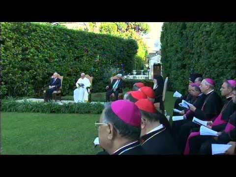 08/06/2014 Iniciativa Invocación de Paz, Papa Francisco, Shimon Peres y Mahmud Abbas