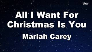 All I Want For Christmas Is You - Mariah Carey  Karaoke【No Guide Melody】