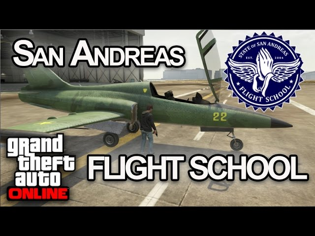 SAN ANDREAS FLIGHT SCHOOL! GTA V Online - [LuzuGames]