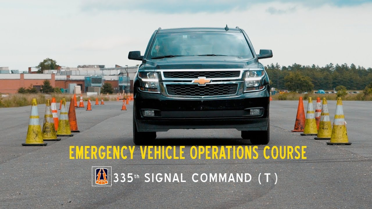 U.S. Army Reserve Soldiers with 335th Signal Command (Theater) based in East Point, Ga. conduct a emergency vehicle operations course   during Lightning Strike 18, at Joint Base McGuire-Dix-Lakehurst, New Jersey, June 20, 2018. The emergency vehicle operations course teaches military police and security personnel how to operate vehicles at high rates of speed without causing harm to the public or themselves. (U.S. Army Reserve video by Spc. David Cook)