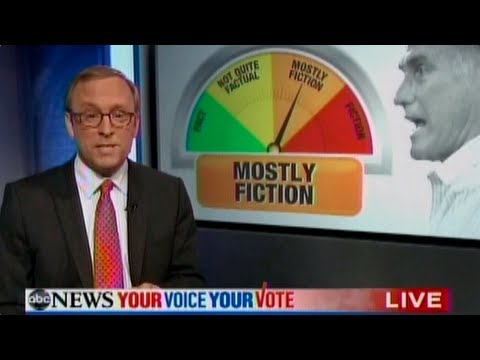 "Mitt Romney s Debate Performance: ""Mostly Fiction"""