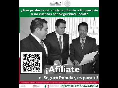 Afiliación al Seguro Popular SLP