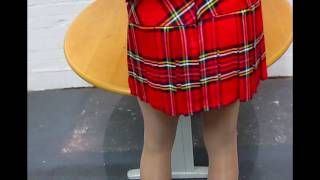 Pantyhose under her kilt